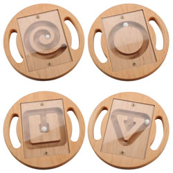 Wooden Mazes (Set of 4)