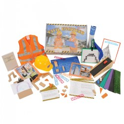 3 years & up. The civil engineer STEM kit offers hands on learning experiences that encourage children to build, analyze, and revise multiple engineering projects and ideas. Bridge and building blueprints as well as fundamental materials are included that will encourage children to evaluate the efficiency of different building materials, create new concepts, and plan effective designs. Additional projects are suggested on the challenge cards as well as extended ideas, tips, and discussion topics on the literacy cards. Additional features are a civil engineer book and two song downloads.