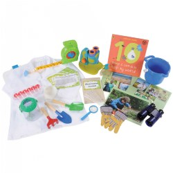 3 years & up. Children will learn to observe, study, and protect the environment with the environmental scientist STEM kit.  Multiple hands-on experiments and learning activities are included, along with all the necessary materials. Children will be inspired to test water samples, collect a variety of nature samples, study pollution, and more. A variety of air, water, and land experiences are suggested on the included challenge cards. Additional tips, facts, and interactive topics are suggested on the literacy cards. The learning continues with an environmental scientist book and two song downloads.