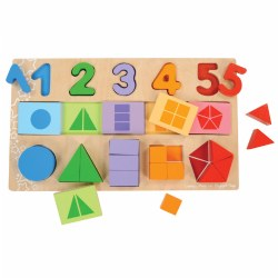 My First Fraction Puzzle With Numbers, Shapes and Counting