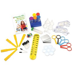 "3 years & up. Children are encouraged to ""learn by doing"" with the dozens of engaging activities presented in this book. This kit provides over 50 components necessary to perform the experiments and inspires hours of hands-on involvement and enjoyment. Everything stores neatly in an 18-quart plastic storage box (included)."