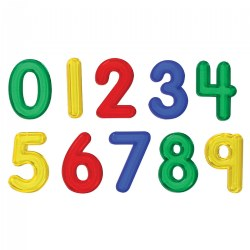 Jumbo See-Through Numbers - Set of 10