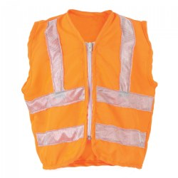 3 - 5 years. Orange reflector vest can be used for indoor or outdoor play. Children can use it as a dramatic play accessory or as part of their outdoor adventure gear.