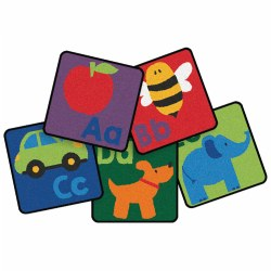 Sequential Seating Literacy Squares - Set of 26
