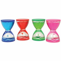 Mini Hourglass Liquid Motion Timers (Set of 4)