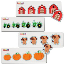 Size and Sequence Farm Puzzles (Set of 4)