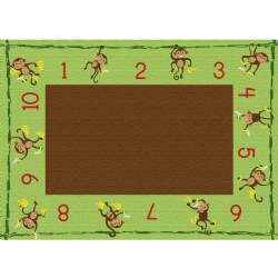 "Cushy Tushy™ Counting Monkeys Carpet 6' x 8'4"" Rectangle"