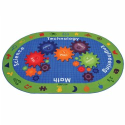 "STEM Carpet - 8' x 12"" Oval"