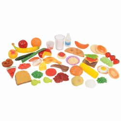 Pretend Play Healthy Eating Food Set - 48 Pieces