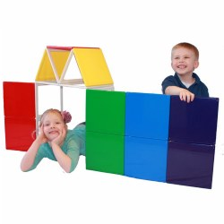 Rainbow Solids Magnetic Building Set (19 Piece Set)