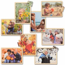 Four Seasons Puzzle Set (Set of 8)