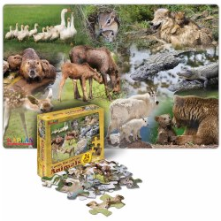 North American Animals Floor Puzzle - 24 pieces