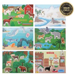 Magnetic Animal Habitat Set