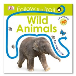 Follow the Trail Wild Animals - Board Book