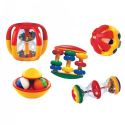 Musical Baby Rattles Activity Set of 5