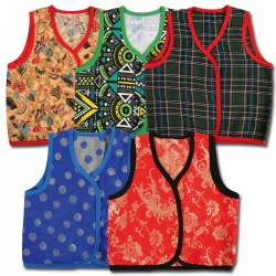 Toddler Multicultural Vests (Set of 5)