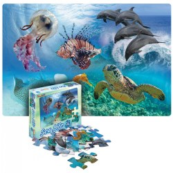 "Sea Life 24-Piece Floor Puzzle (24"" x 36"")"