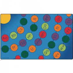 Radiating Alphabet Circles Carpet
