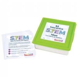"52 Interactive STEM Ideas for Infants and Toddlers - 5"" x 5"" Activity Cards"