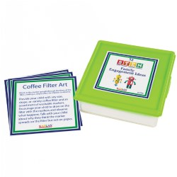 "This set of 52 cards will provide classrooms with a year's worth of interactive STEM activities for children and their families. These simple and straightforward STEM-themed family engagement ideas are enjoyable for teachers, families, and children alike. Cards measure 5"" x 5"" and store in a sturdy plastic container."
