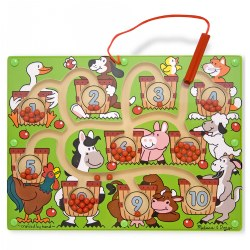 3 years & up. Familiar animals make counting and number matching an fun activity. Develop number recognition and counting skills while promoting hand-eye coordination, fine motor skills, and problem solving. Comes with self-contained wand.