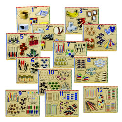 Numbers 1 - 12 Individual Puzzles - Set of 12