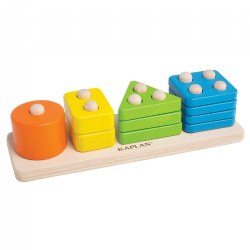Toddler Wooden One to Four Counter