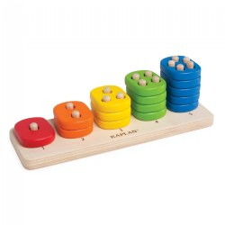 Toddler Stacking Number Board