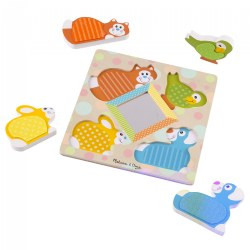 First Play Wooden Touch & Feel Puzzle