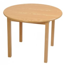 "30"" Round Ash Table (Seats 4) - 22"" Leg"