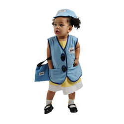 Toddler Mail Carrier Vest, Hat, and Bag