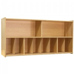 Wooden Diaper Storage Wall Unit