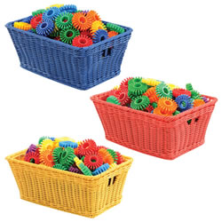 Small Plastic Wicker Baskets (Set of 10)