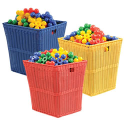 Large Plastic Wicker Basket (Each)
