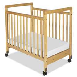 SafetyCraft® Compact Fixed-Side Clearview Crib