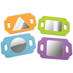Infant and Toddler Easy Grasp Shape Mirrors - Set of 4