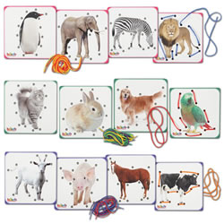 Animal Lacing Boards - Set of 12