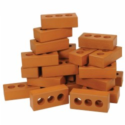 "3 years & up.  Build to new heights with this fantastic collection of realistic pretend bricks! This 25-piece set of lightweight, weather-proof foam bricks stack easily for endless creative building projects. Bricks measure 8""L x 3 1/2""W x 2""D."
