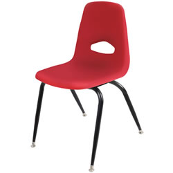 "Stackable 17 1/2"" Teacher Chair - Red"