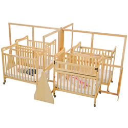 Space Saver See-Thru Island Crib Divider