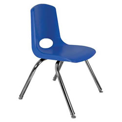 "18"" Adult Stack Chair - Blue"