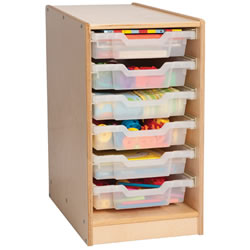 Easy View 6 Tray Storage with Trays