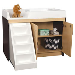 Toddler Walk Up Changing Table - Mocha