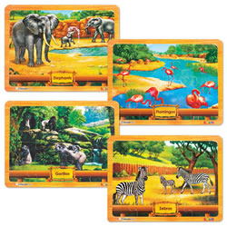 Puzzle Set: African Animals