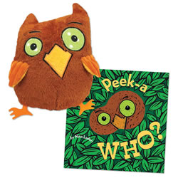 Peek-a Who Board Book and Plush Owl