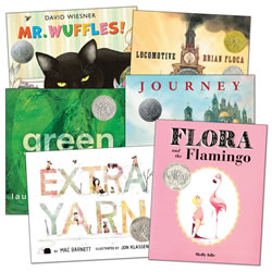 Caldecott Medal Winners Book Set (Set of 6)