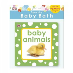 Squeaky Baby Bath: Baby Animals - Vinyl Book