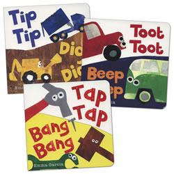 Tip, Tap, Toot Board Books - Set of 3