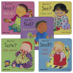 My Five Senses Bilingual Board Books - Set of 5