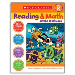 Reading & Math Jumbo Workbook for Grade PreK